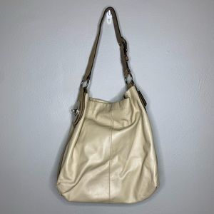 Coach Light Colored Tan One Strap Purse